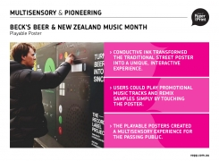 Beck&#8217;s Beer<br>World's first ever commercial, outdoor playable poster