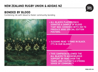 NZ Rugby Union<Br>Bonded by Blood