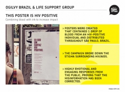 Ogilvy<Br>This Poster Is HIV Positive