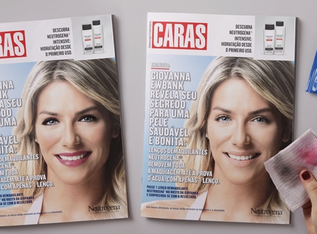 Brazil Neutrogena<br>interactive magazine ad enabled readers to test new product
