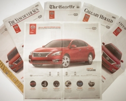 NISSAN <br> INNOVATIVE NEWSPAPER ADS